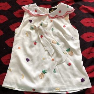 Tops - Nishe fruity sleeveless Kawaii blouse XS